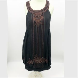 Sue Wong Vintage beaded embroidered silk dress